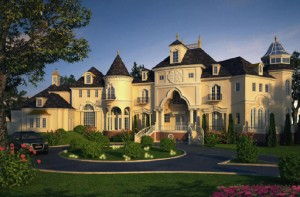 French luxury home mansion eclectic chateau architect
